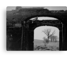 Black And White Photo In A Photo Canvas Print
