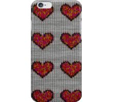 knitted hearts iPhone Case/Skin