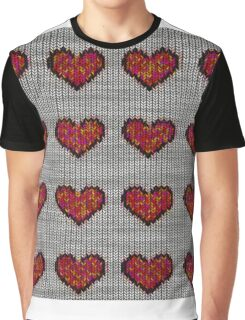 knitted hearts Graphic T-Shirt