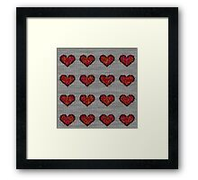 knitted hearts Framed Print