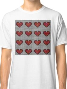 knitted hearts Classic T-Shirt