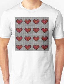 knitted hearts Unisex T-Shirt