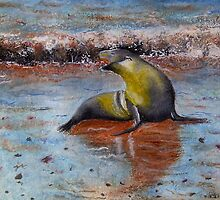 Seal on Galapagos  by Lynne Reeves