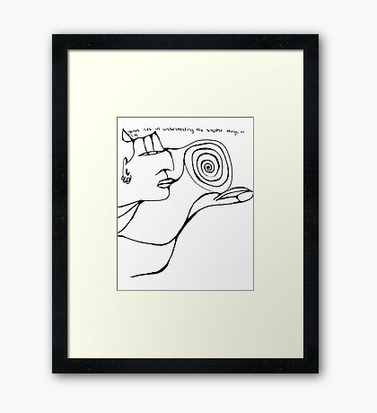 Genius Framed Print
