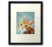 Cat Puzzle Framed Print