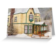 The House in a Winter Wonderland Greeting Card