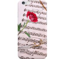 """Love is Like a Red Red Rose"" !! iPhone Case/Skin"