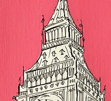 Big Ben In The Pink by Adam Regester