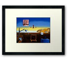 Dali's Mustache - Magritte's Bowler Framed Print
