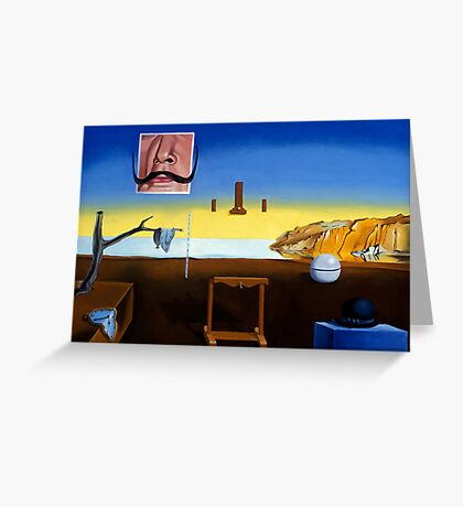Dali's Mustache - Magritte's Bowler Greeting Card