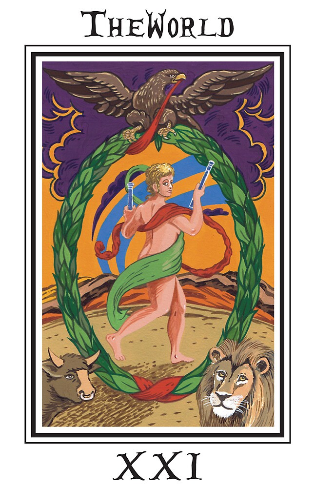 The Fool's Tarot - The World by bruce baillie