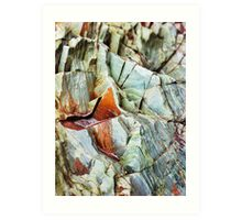 Rock layers Art Print