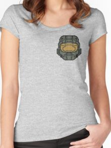 Halo - Pixl Chief  Women's Fitted Scoop T-Shirt