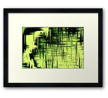 Screen Green Framed Print