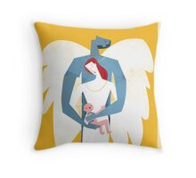 The Angel's Family Throw Pillow