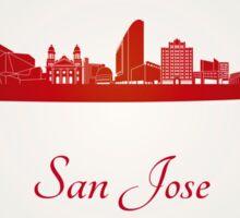 San Jose skyline in red Sticker