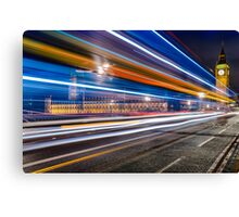 Big Ben Lights, London Canvas Print