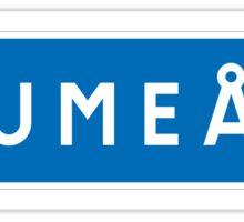 Umea, Road Sign, Sweden Sticker