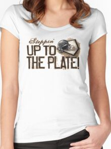 Steppin' Up to The Plate Women's Fitted Scoop T-Shirt