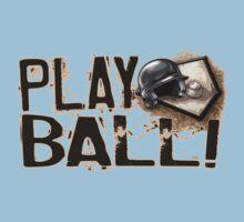 Play Ball Baseball Art One Piece - Short Sleeve