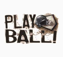 Play Ball Baseball Art by MudgeStudios