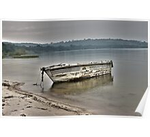 Old Rustic Boat Poster