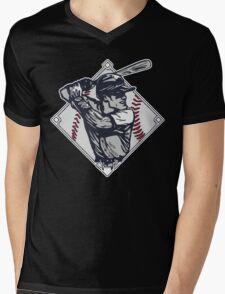 Classic Diamond Baseball Rocks Slugger Mens V-Neck T-Shirt