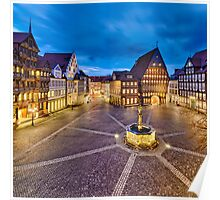 Historic old city of Hildesheim, Germany Poster