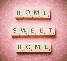 Home Sweet Home - Scrabble Tiles Photograph by eyeshoot