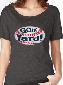 Going Yard Baseball Art Women's Relaxed Fit T-Shirt