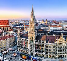 Panorama view of Munich city center by Michael Abid