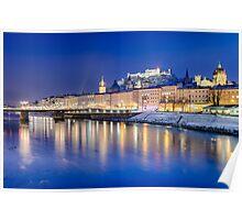 Salzburg at night, Austria Poster