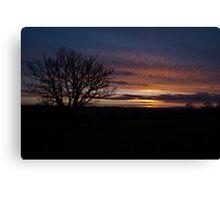 Dawn over Michaelchurch Escley Canvas Print