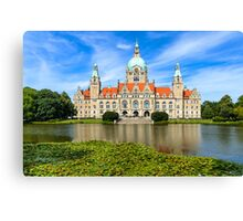 City Hall of Hannover in summer Canvas Print