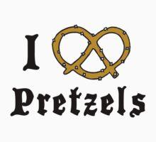 I Love Pretzels by HolidayT-Shirts