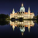 City Hall of Hannover by night by Mapics