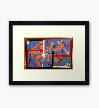 Clock Chaos Framed Print