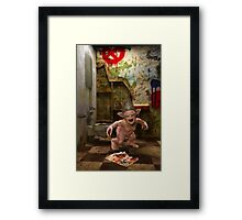 The Toilet Monster Framed Print