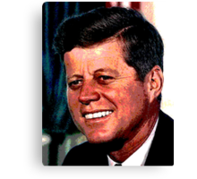 All The President's Heads #2 - JFK Canvas Print
