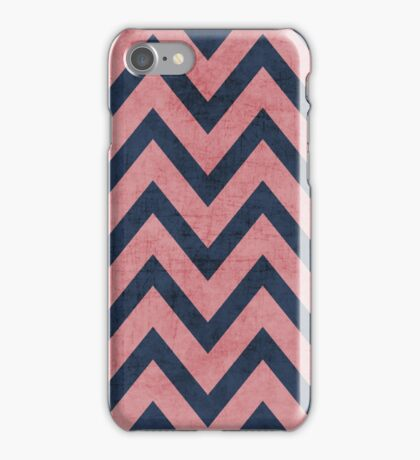 pink and navy chevron iPhone Case/Skin