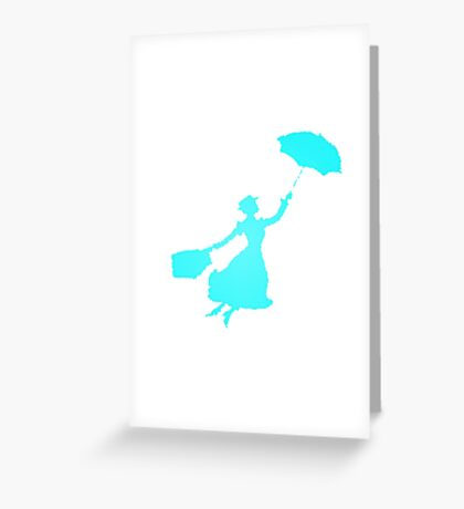 Blue Crystals Miss Poppins  Greeting Card