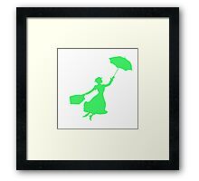 Green Miss Poppins  Framed Print