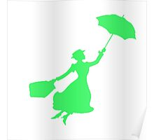 Green Miss Poppins  Poster