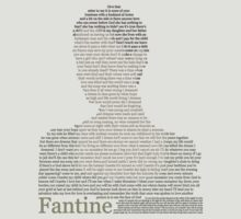 Fantine - Les Miserables Lyrics - Epilogue Minimalist by Hrern1313