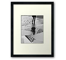 Flipped Pyramid Framed Print