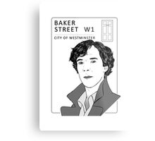 Sherlock - Benedict Cumberbatch - Drawing Metal Print
