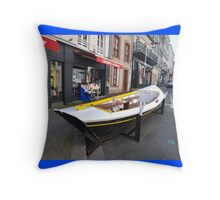 Granville, France 2012 - Reading Boat Throw Pillow