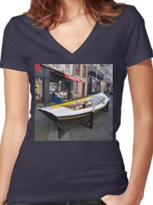 Granville, France 2012 - Reading Boat Women's Fitted V-Neck T-Shirt