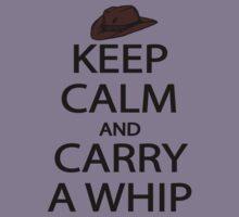 keep calm and carry a whip. Kids Tee