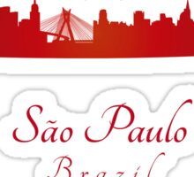 Sao Paulo skyline in red Sticker